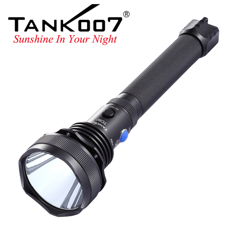 Aluminum alloy C ree XM-L <strong>U2</strong> max rechargeable 1000 lumens led flashlight torch TC60