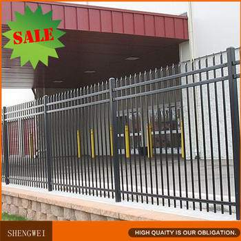 Galvanised Steel Spear Top Security Fence Panels
