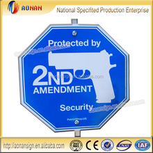 Protected by 2ND Amendment aluminum Reflective high quality yard sign direction