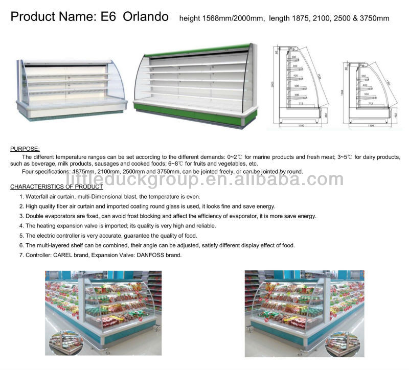 Ladder shelf upright refrigerated showcase-ORLANDO