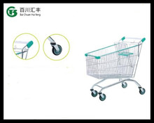 EUROPE style trolley with two or three basket metal shopping cart for your christmas shopping