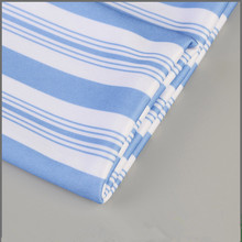 Latest design customized blue and white stripes sportswear knit polyester jersey fabric