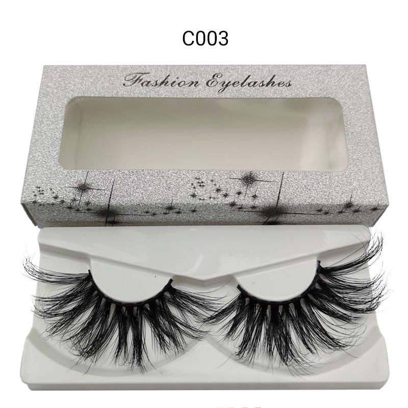 30 Mm Lash Custom Package Private Label 3D Natural False Mink Human Eyelashes Thin Band