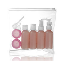 50ml Traveling kit PET cosmetic bottle set with PVC bag for sale