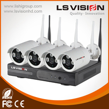 LS VISION Power Line Communication 4Ch Nvr Kit China Product Wifi Camera Outdoor Kit Nvr Fcc,Ce,Rohs Certification