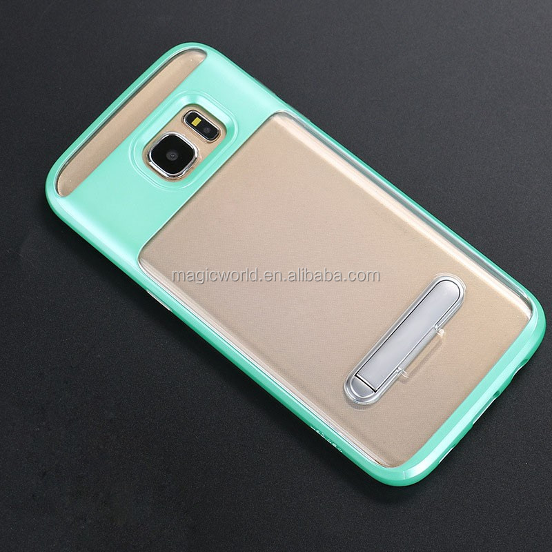 2in1 Shockproof Transparent TPU+PC Phone Case For Samsung Galaxy S8