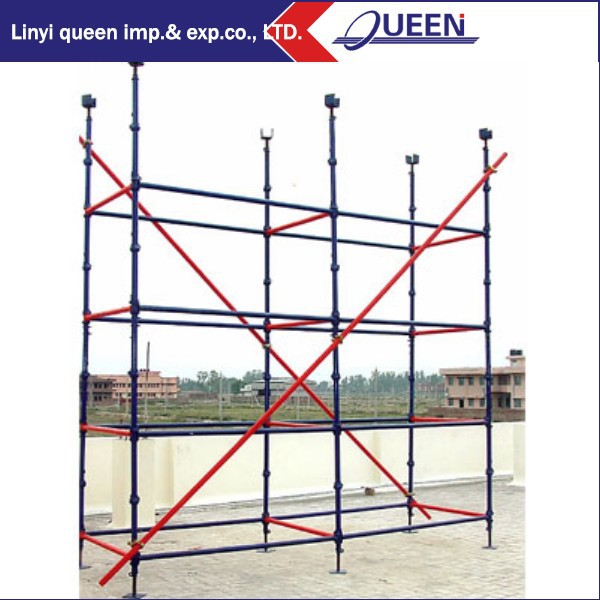 Construction Formwork Support Shore Post Building Cuplock Scaffolding Steel Scaffolding Supporting Pole for Sale