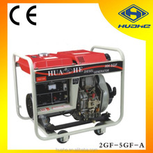 portable low noise diesel welding generator machine,5KW electric diesel welder generator portable welding machine price