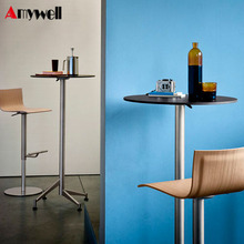 Amywell Modern foldable commercial more than 1M high top compact HPL bar table