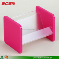 Factory Outlet acrylic base name card stand for office plexiglass display holder