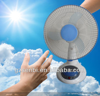 "300mm 12"" dc 12v small solar China rechargeable fan"