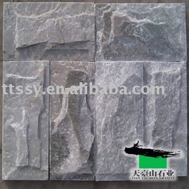 stone wall face bricks panel