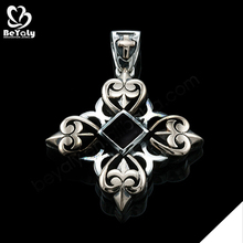 Intricate cross design custom stainless steel charms