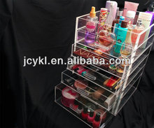 5 drawer lucite make up accessory box