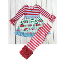 High quality Christmas baby girls clothes fashion design long sleeve girl clothing suit