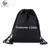 custom printed bag cotton canvas backpack bag for promotional gifts
