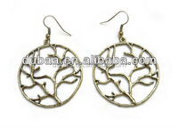 Fashion Jewelry Earrings with Antique Silver and Brass Colors,Dollar Earrrings,2013 Spring Wholesale Fashion Jewelry Thailand