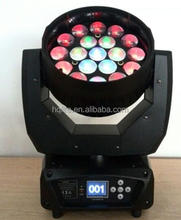 New 19*15w RGBW 4 IN 1 led wash 19 pcs zoom moving head light led zoom aura stage light