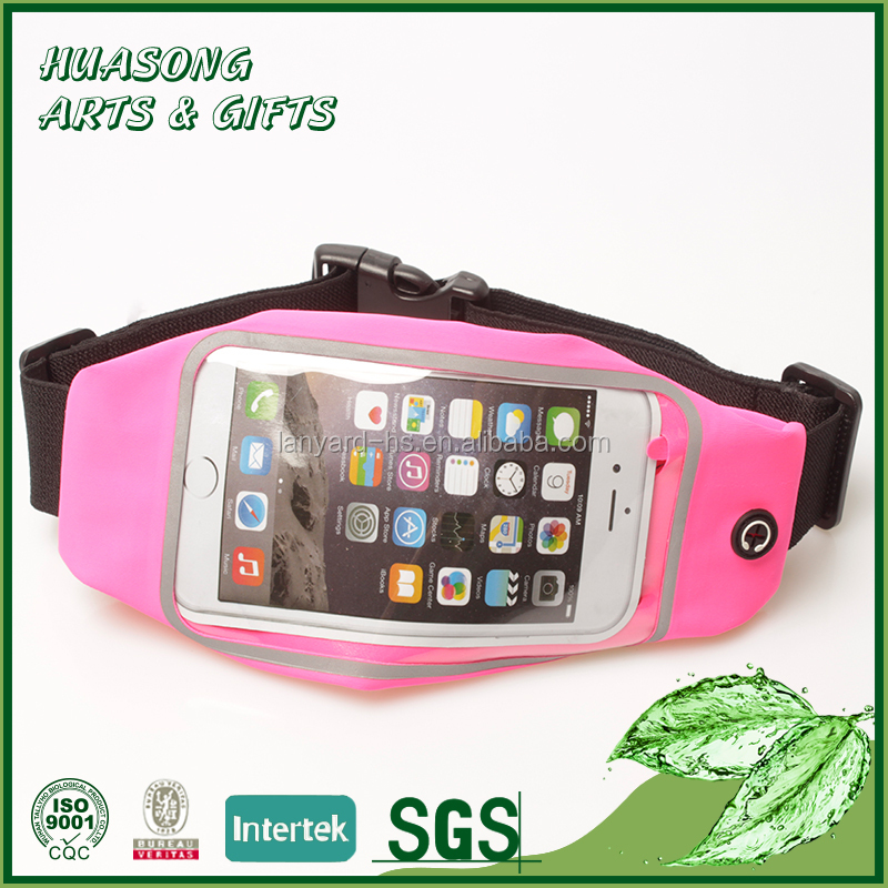 Custom waterproof sweatproof Reflective sports running belt waist pack belt