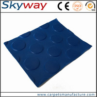Non-slip Elastic Shockproof industrial anti-slip diamond rubber sheet / willow leaf pattern rubber sheet
