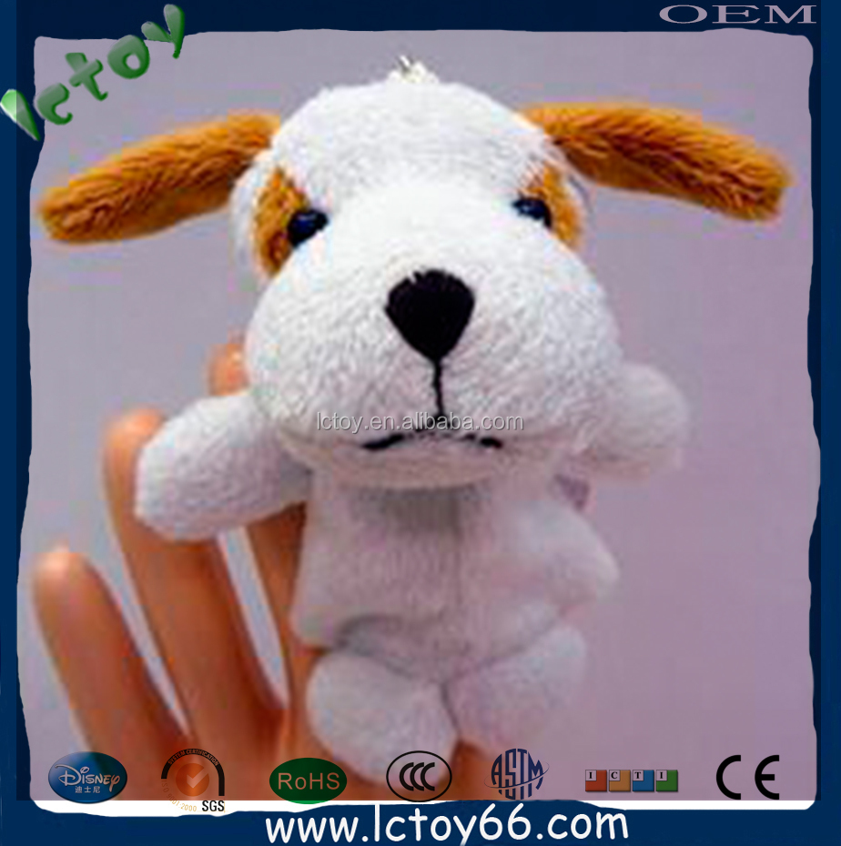plush dog toy funny finger puppets