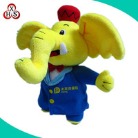 Custom walking stuffed elephant toy plush elephant doll