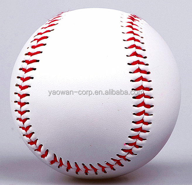 9 inches soft PVC leather rubber filled official league baseball