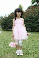 2012 hot fashion sexy children pink evening gown