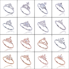 XINHUI JEWELRY White Gold Princess Crown/Cross/One Stone/Heart shape Ring for Women Silver 925 Jewelry Engagement Ring Wholesale