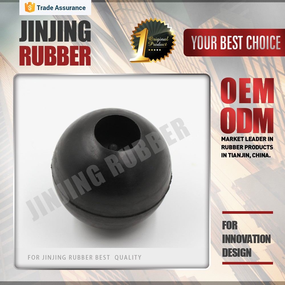hollow rubber ball/Black color silicone rubber hollow ball/