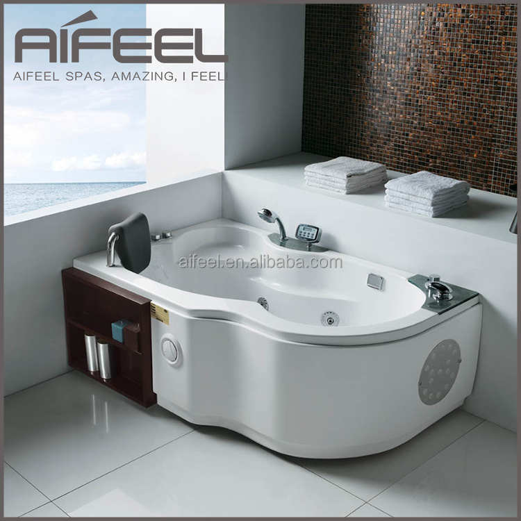 cheap freestanding acrylic 1 person whirlpool massage