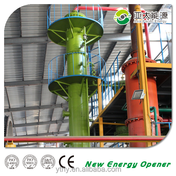 Fully automatic continuous crude oil refinery waste oil distillation equipment