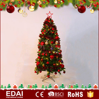 Popular style decoration wreath gift pvc christmas wreaths 10 inch with colorful LED lights