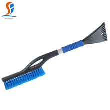 Heavy-duty car snow brush with ice scraper