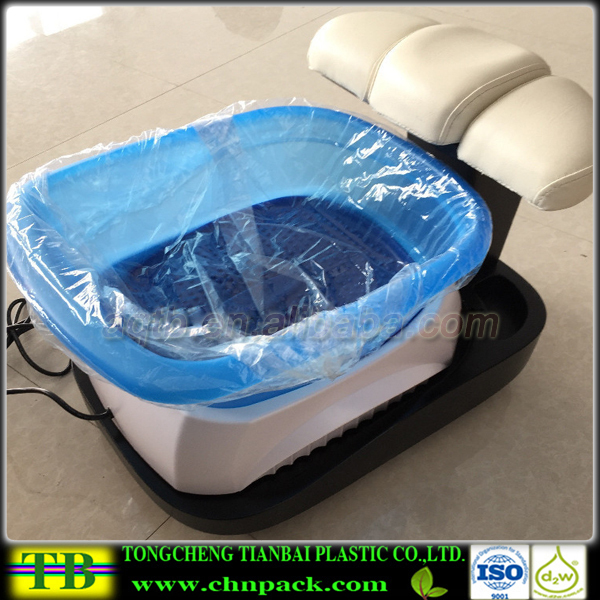 Disposable elastic bowl cover or liners for nail spa for Bathtub covers liners