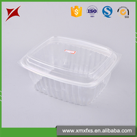 Newest design clamshell food container PET plastic lunch box