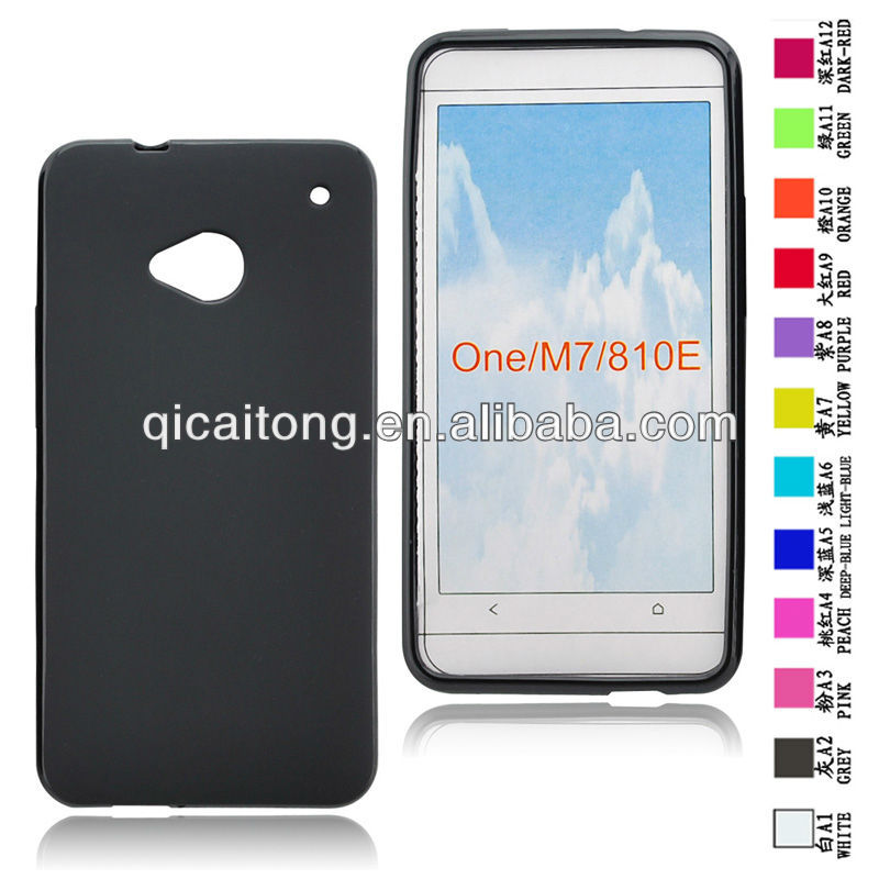 mobilephone tpu puding gel case for HTC one M7