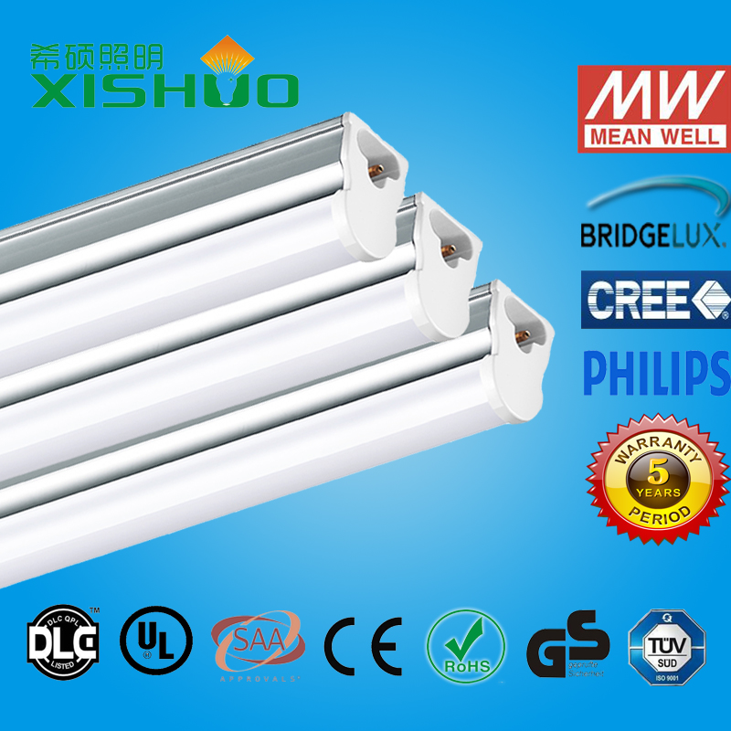 2016 hot-sell new product dimmable high lumen tub e8 led light tube 22w t5 led tube light ETL TUV SAA CE ROHS DLC LCP approval