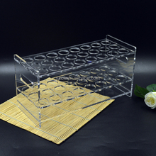 custom test tube rack square clear acrylic display stand
