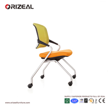 Orizeal Movable Mesh Visitor Chair,Foldable Seat Guest Chair,Modern Office Furniture (OZ-OCV007C)