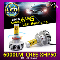 G6 6th Generation All In One Design led headlight for AAPEX show & Fanless XHP50 3000LM Canbus LED Headlight DIY Conversion Kit