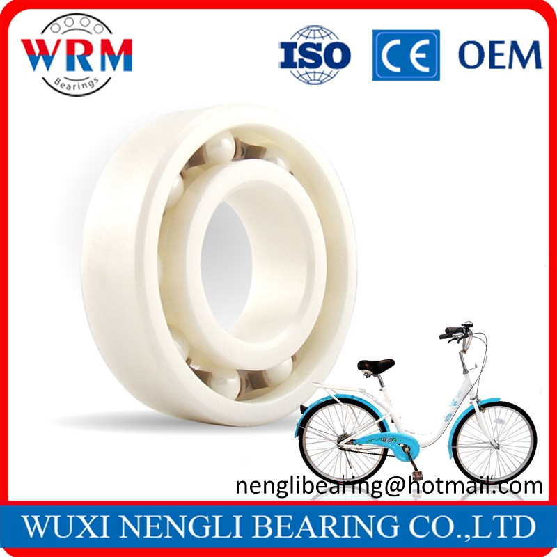 Low Noise Silicon Nitride Zirconia 608 Deep Groove Single Row Ceramic Bearing