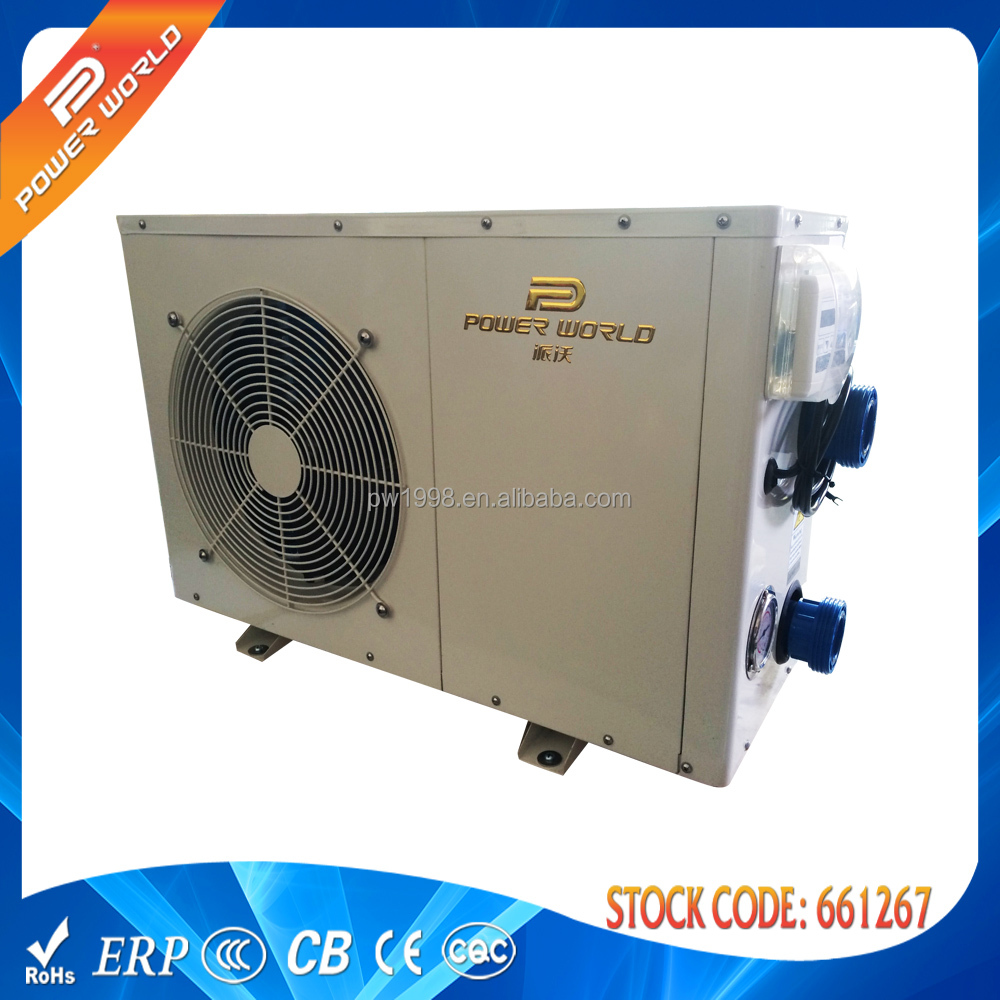 Swimming pool heat pump water heater ce iec erp saa rohs for Swimming pool heaters