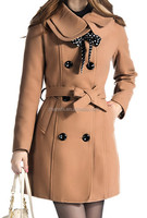 Russian Style Ladies Wool Cashmere Coat From Chinese Factory