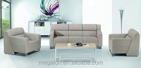 2016 Modern Pictures of leather sofa designs sofa sets used for office (FOH-1416)