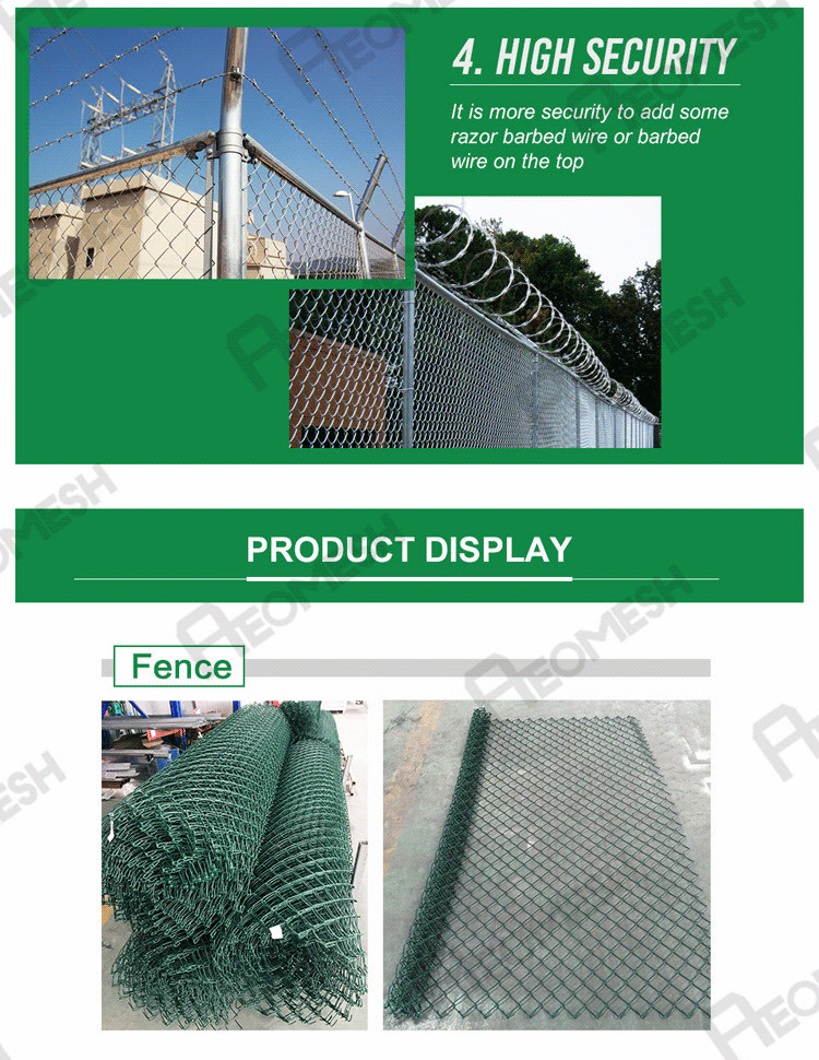 High Quality Pvc Coated Gardens Mini Mesh Chain Link Fence For Sale