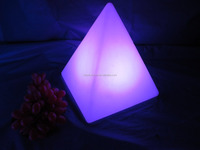 Pyramid rechargeable led coffee table light