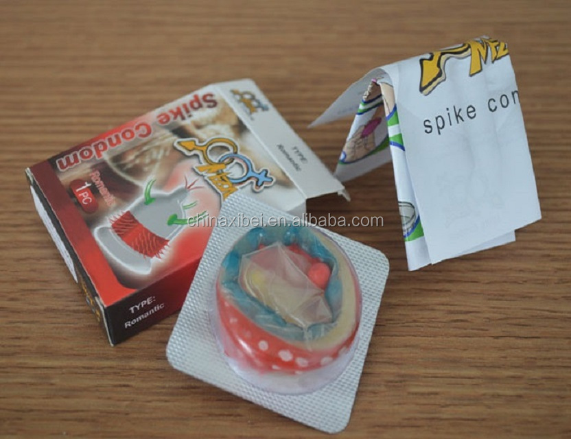 ce iso good quality girls sexy condom/condom with spikes