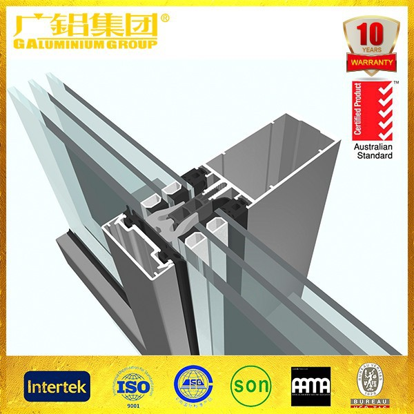 Glass curtain wall price/aluminum curtain wall