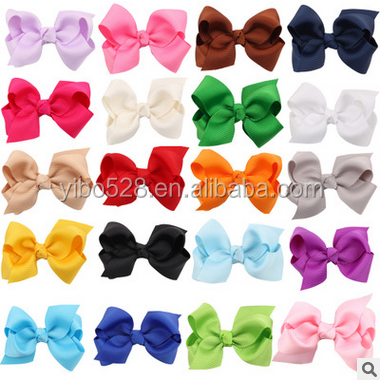 20 Colors Baby Girl Grosgrain Ribbon Hair Bows With Alligator Clips,Boutique Hairclips Hair Accesories